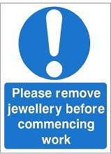 Pack of 2 x Please Remove Jewellery Before