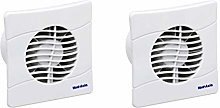 Pack of 2 x Vent Axia 436532 Extractor Fans with