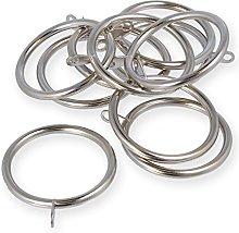 Pack Of 20-50mm Chrome Curtain Rod Eyelet Rings