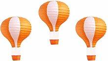 Pack of 3 Stripy Hot Air Balloon Paper Lantern