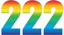 Pack of 3 Trendy Rainbow Wheelie Bin Number-2 Self