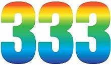 Pack of 3 Trendy Rainbow Wheelie Bin Number-3 Self