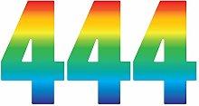 Pack of 3 Trendy Rainbow Wheelie Bin Number-4 Self