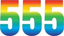 Pack of 3 Trendy Rainbow Wheelie Bin Number-5 Self