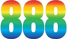 Pack of 3 Trendy Rainbow Wheelie Bin Number-8 Self