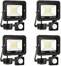 Pack of 4 50W Security Lights Outdoor Motion