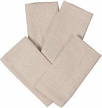 Pack of 4 Cloth Napkins, Beige Machine Washable