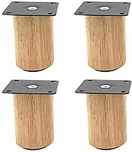 Pack of 4 Furniture Legs,Rubber Wood,Couch