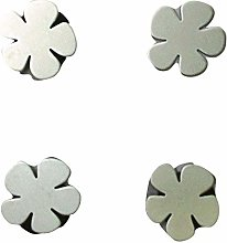 PACK OF 4 MAGNETIC METAL FLOWER TABLECLOTH WEIGHTS