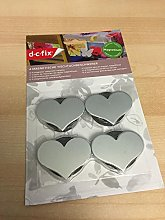 PACK OF 4 MAGNETIC METAL HEART TABLECLOTH WEIGHTS