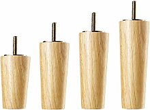 Pack of 4 Solid Wood Sofa Legs,Tapered Coffee
