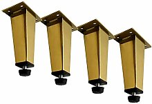 Pack of 4 Stainless Steel Adjustable Furniture