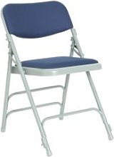 Pack Of 4 Upholstered Folding Chairs , Blue