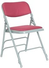 Pack Of 4 Upholstered Folding Chairs , Burgundy