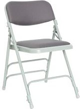 Pack Of 4 Upholstered Folding Chairs , Charcoal