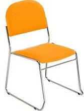Pack Of 4 Washington Side Chairs, Aluminium/Orange