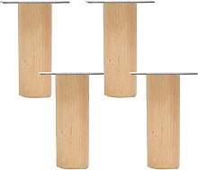 Pack of 4 Wood Furniture Parts Sofa Legs Tapered