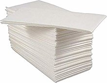 Pack of 50 Luxury White Paper Airlaid Disposable