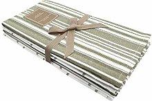 Pack of 6 Large Vintage Herringbone & Check Weave
