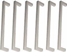 Pack of 6 Matt Stainless Steel Handle Cabinet
