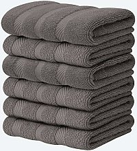 Pack of 6 Premium Terry Tea Towel Set - 100% Ring