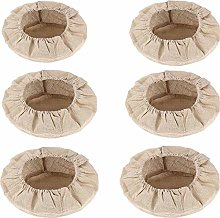 Pack of 6 round linen inserts, bread making