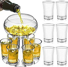 Pack of 6 Shot Glass Wine Dispenser and Holder
