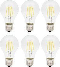 Pack of 6 Units Dimmable 4W E27 A60 Screw LED