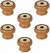 Pack of 6 Wood Handle Knob with Honey Tint