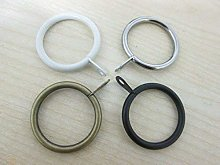 Pack of 8 Metal Curtain Pole Cafe Rod Rings