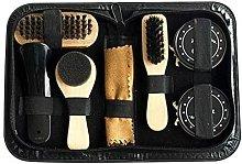 Pack of 8 portable shoe care pieces - Noir