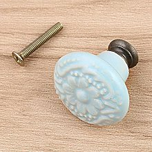 Pack of One Vintage Ceramic Door Knobs for Cabinet