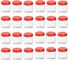 Pack of Sunpet 100ml Red Top Plastic Food Storage