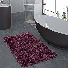 Paco Home Modern Deep Pile Bathroom Rug One Colour