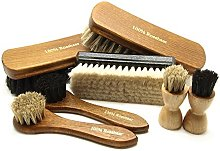 Pacona 7-Piece Shoe Brush Setto Shine and Polish