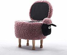 Paddia Sturdy Non-slip Solid Wood Ottoman Sheep