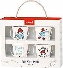 Paddington Bear Egg Cup Pails, Cream