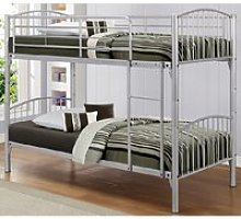 Paddington Children Metal Bunk Bed In Silver