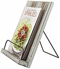 Paddle Style Wood Cookbook Holder Tablet Stand