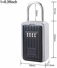 Padlock Door Lock Key Lock Box with 4-Digit