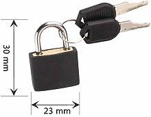 Padlock Door Lock Suitcase Lock with 2 Keys