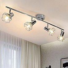 PADMA 4 Way Ceiling Spotlight Fitting Chrome