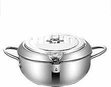 PAEFIU Deep Fryer Pot, 304 Stainless Steel with