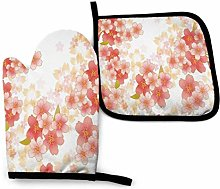 Pag Crane ~ Oven Mitts and Pot Holders Sets Floral