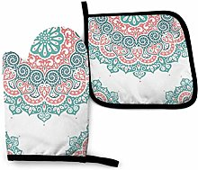 Pag Crane ~ Oven Mitts and Pot Holders Sets Henna