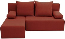 Pagoda Corner Sofa Bed Mercury Row Upholstery: Red
