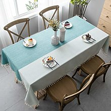 Pahajim Tablecloth Simple Style Cotton for Dining