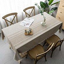 Pahajim Tassel Tablecloth Small Fresh Style Cotton