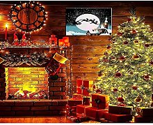 Paint by Numbers Christmas Tree Fireplace DIY