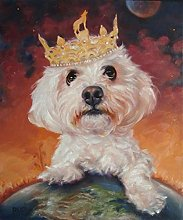 Paint by Numbers DIY Bichon Frise Dog Paint by